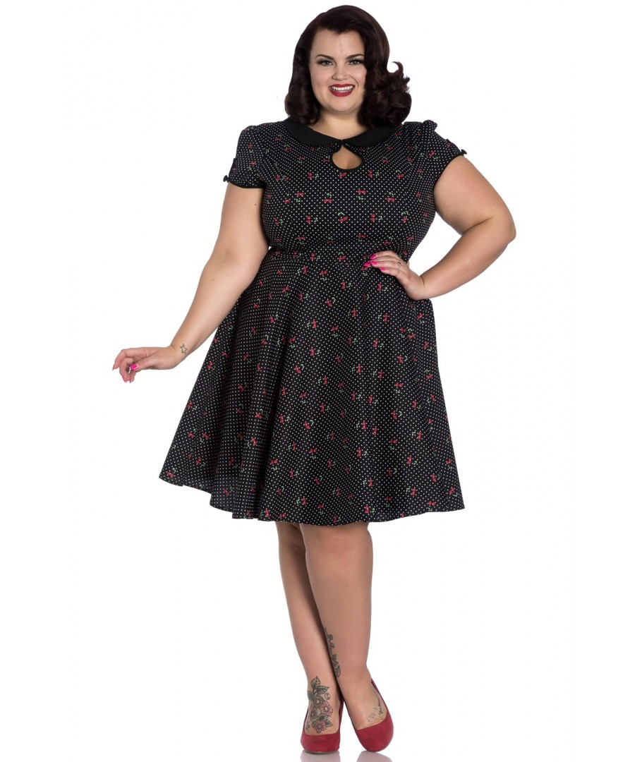 0625809734 Robe rock pin-up grande taille Hell Bunny 4815 SOPHIE MID