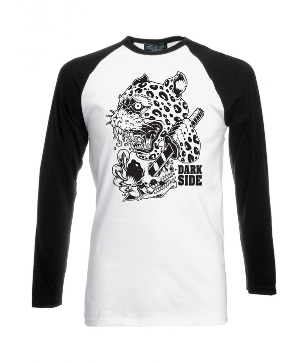 Tee Shirt Darkside Clothing Homme Leopard Black White