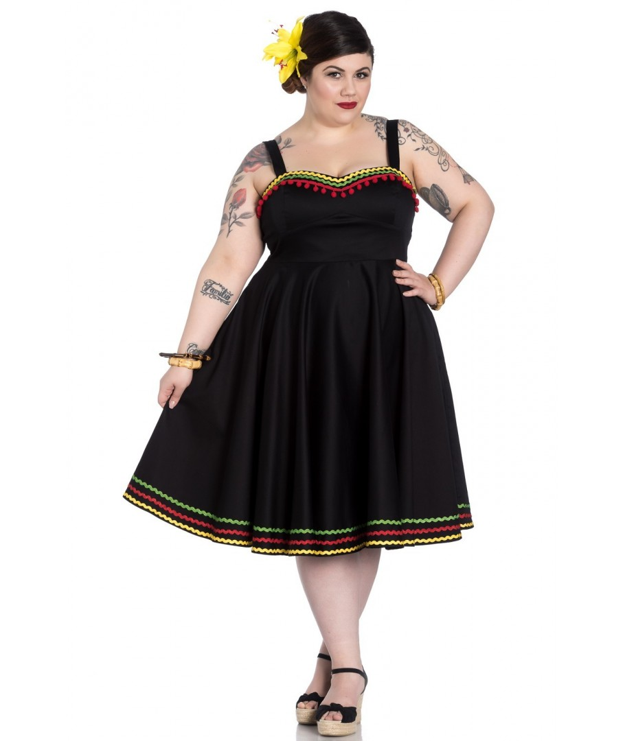 Robe Grande Taille Hell Bunny Marianne Dress Size Rock Pin Up Lolita