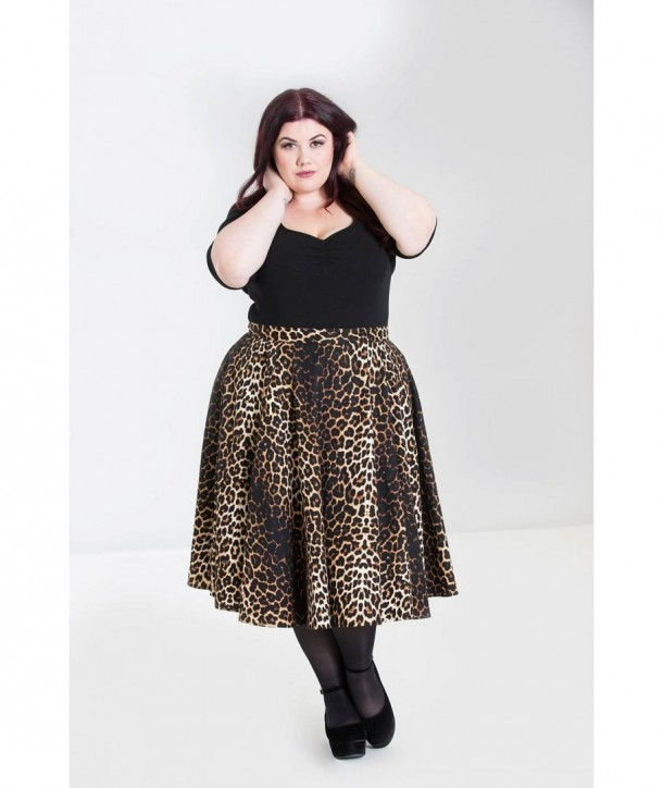 Jupe grande taille Hell Bunny Panthera 50'S