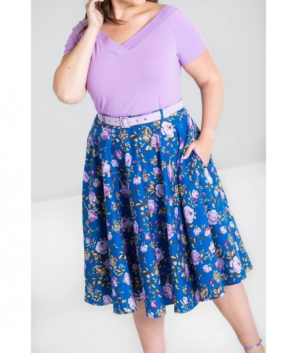 Jupe grande taille Hell Bunny Violetta 50'S