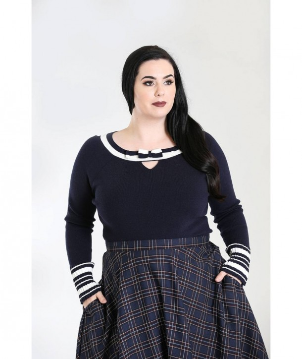 Pull grande taille Hell Bunny Elodie