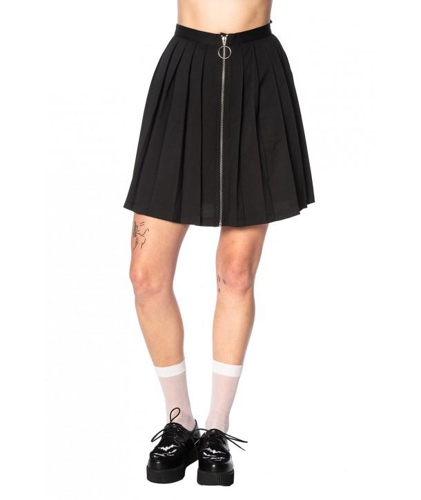 Jupe Banned Clothing Urban Vamp Pleats