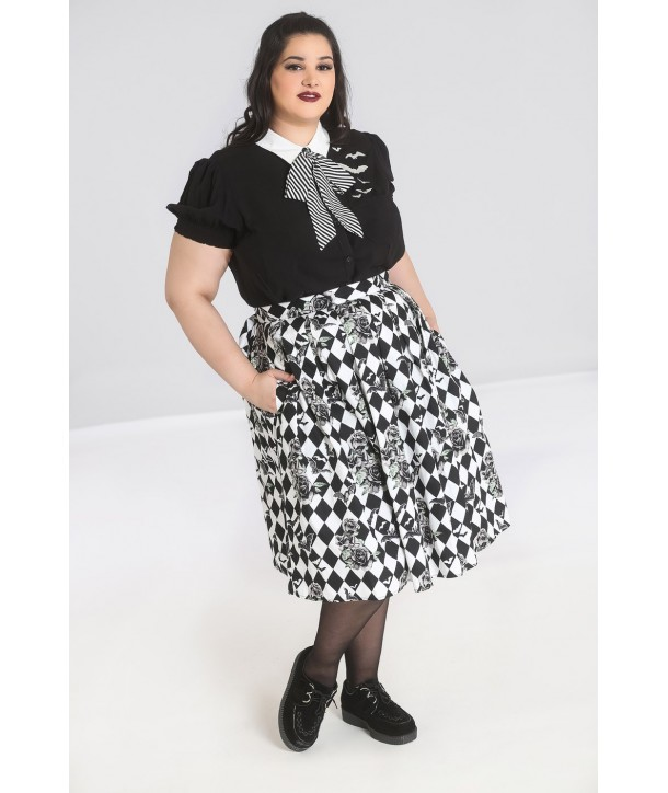 Jupe Grande Taille Hell Bunny Hauntley 50'S