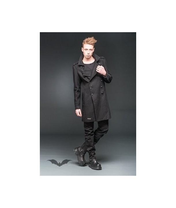 Manteau Queen Of Darkness Gothique Military Look Coat With High Collar