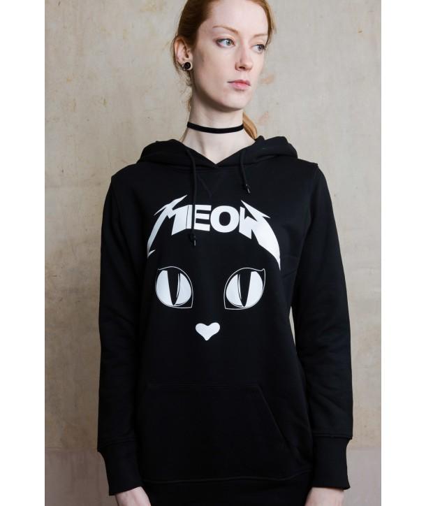 Sweat Shirt Darkside Clothing Femme Metal Meow