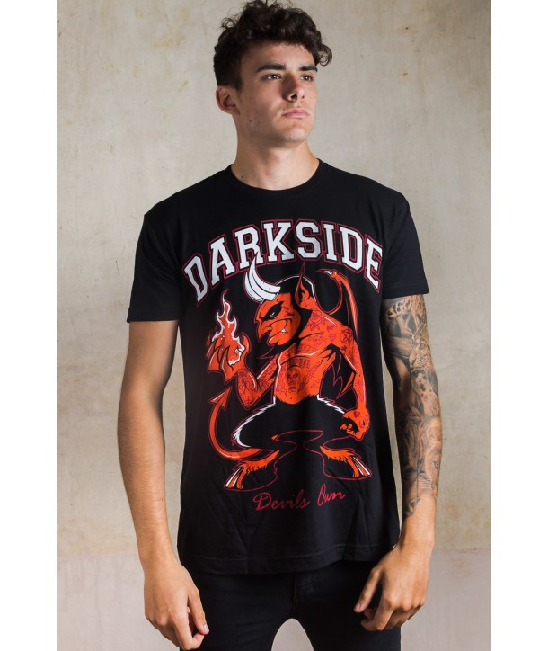 Tee Shirt Darkside Clothing Homme Day Of The Dead Rose