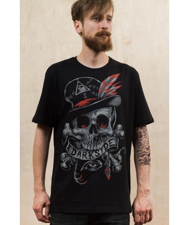 Tee Shirt Darkside Clothing Homme Voodoo Skull