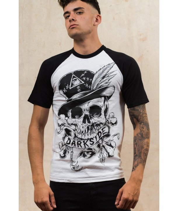 Tee Shirt Darkside Clothing Homme Voodoo Skull Baseball