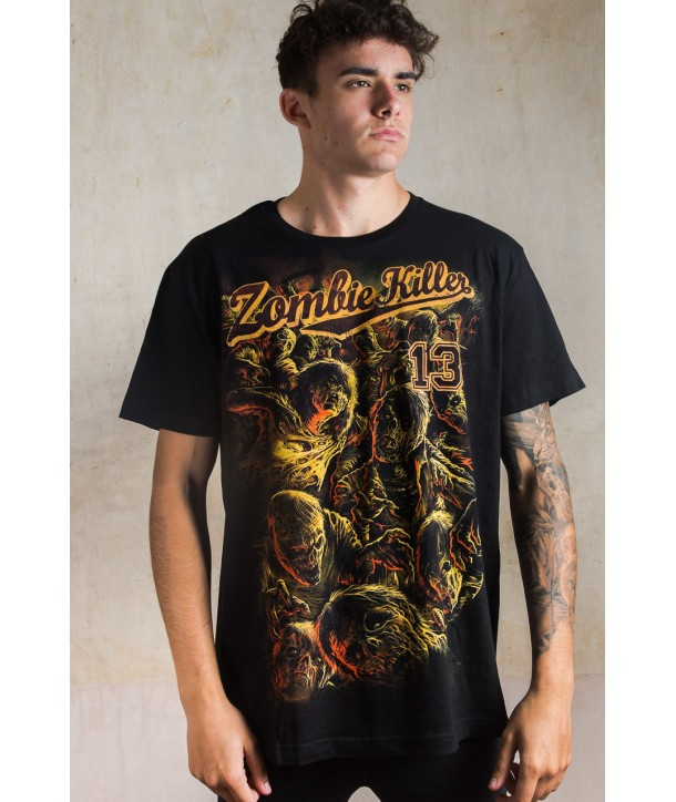 Tee Shirt Darkside Clothing Homme Zombie Killer
