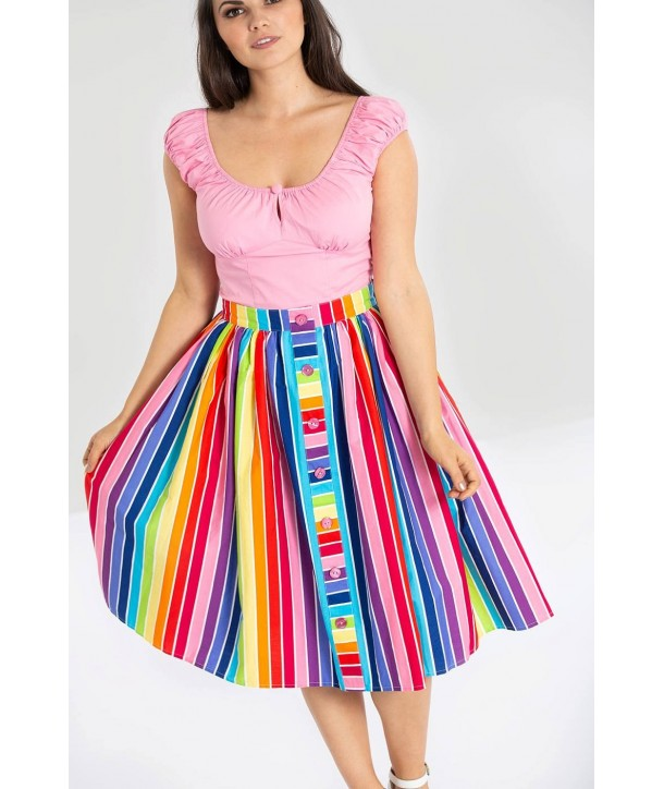 Jupe Hell Bunny Over the Rainbow 50S