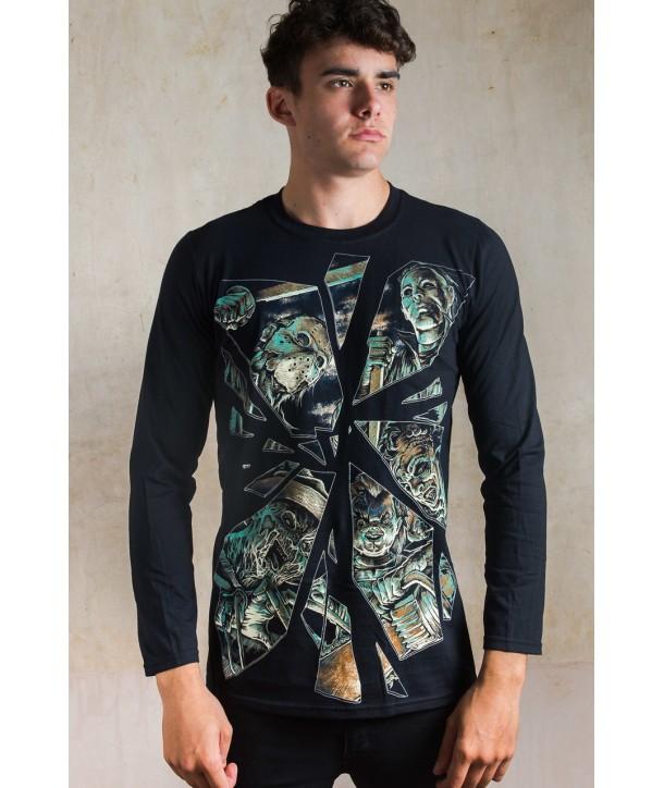 Tee Shirt Darkside Clothing Horror Mirror Long Sleeve