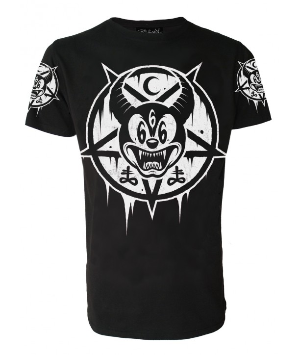 Tee Shirt Darkside Clothing Homme Mickey 666