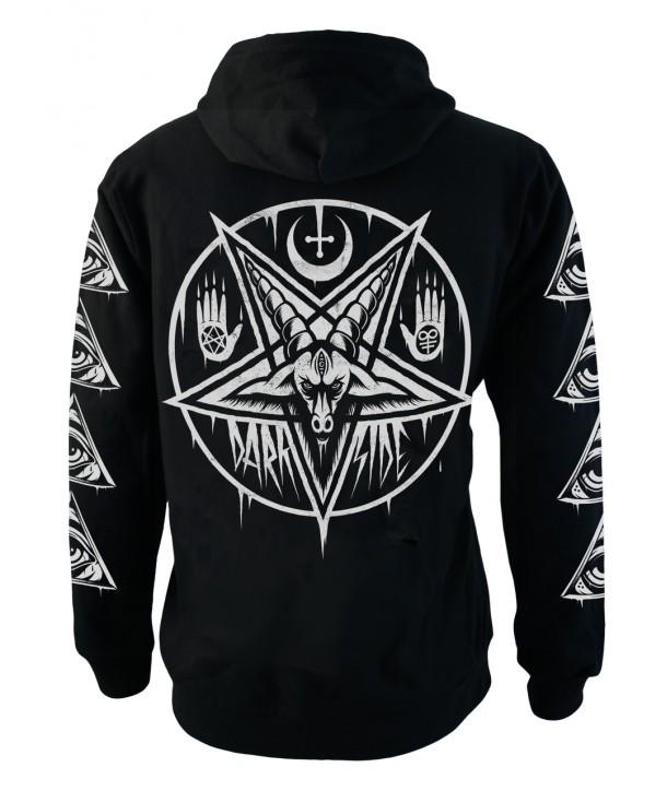 Sweat Shirt Veste Darkside Homme Pentagram Baphomet