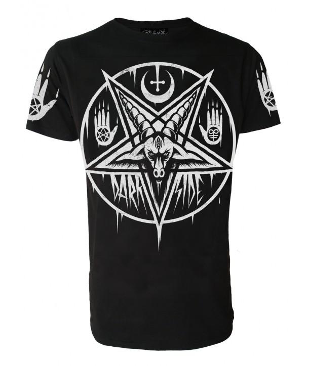 Tee Shirt Darkside Clothing Homme Pentagram Baphomet