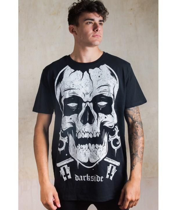Tee Shirt Rock Darkside Clothing Skull Mens T-Shirt