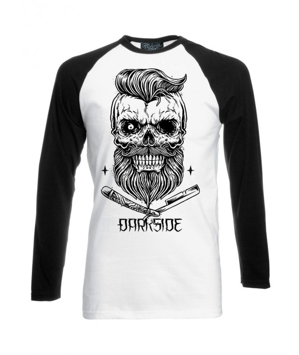 Tee Shirt Darkside Clothing Bearded Skull Black White M