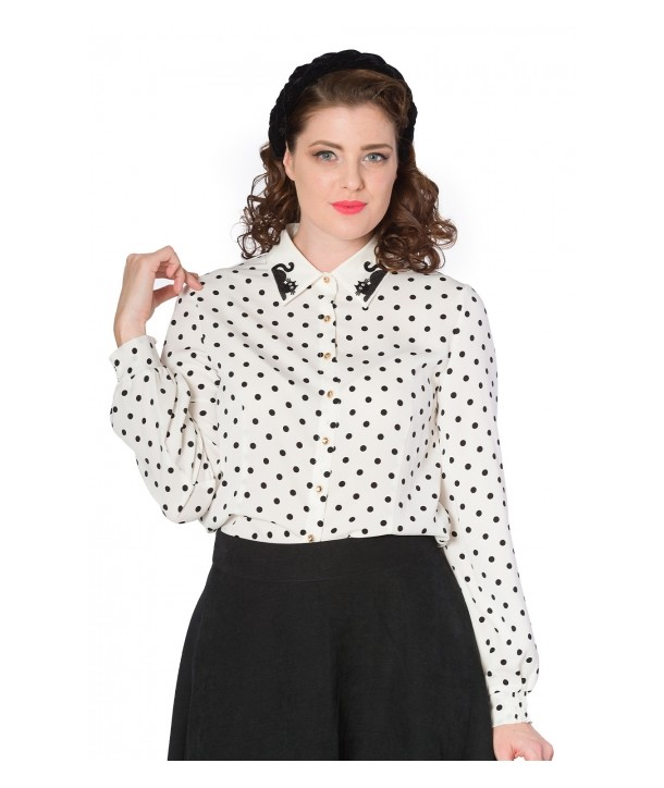 Blouse Banned Clothing Collar Cat