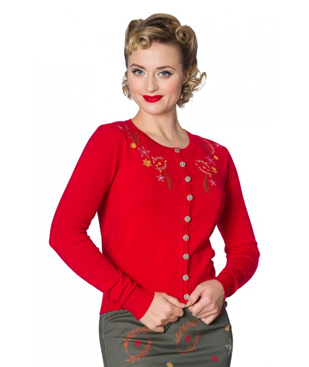 Cardigan Banned Clothing Winter Leaves Embriodery