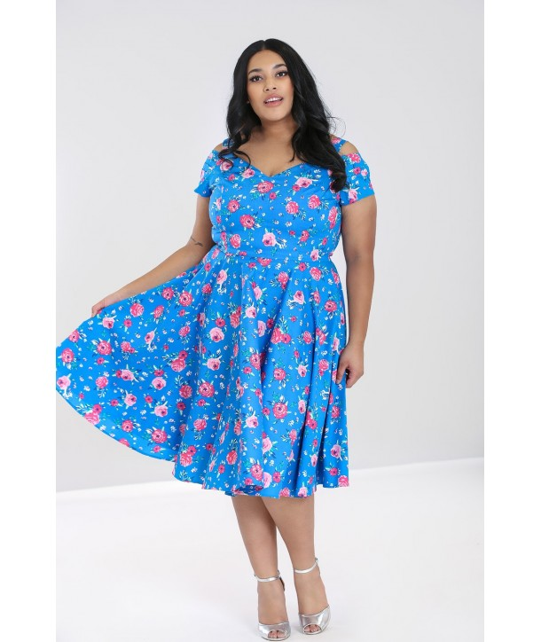 Robe Grande Taille Hell Bunny Chantilly 50S
