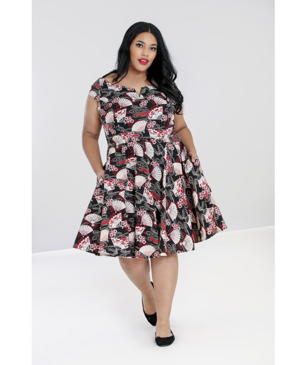 Robe Grande Taille Hell Bunny Lanah Mid