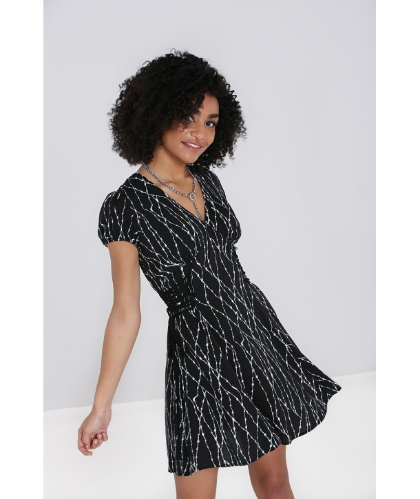 Robe Hell Bunny Barbed Wire Mini