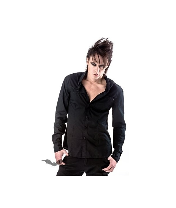 Sweat Shirt Queen Of Darkness Gothique Black Shirt With Embroidering