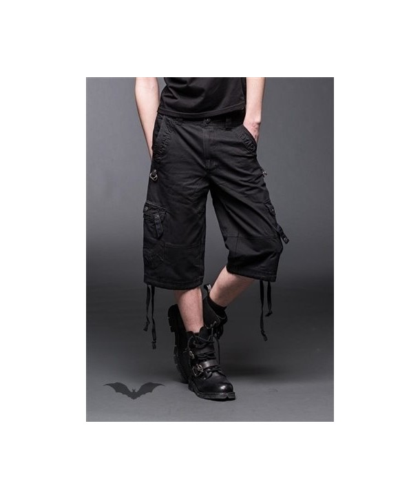 Short Queen Of Darkness Gothique 3/4 Pants With 2 Side Pockets And D-Ring