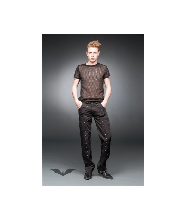 Pantalon Queen Of Darkness Gothique Black Pants With Small Studs