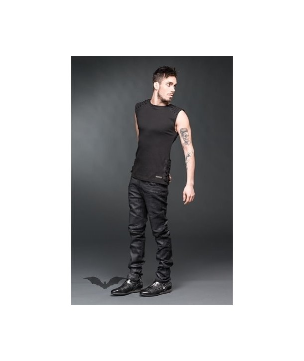 Pantalon Queen Of Darkness Gothique Black Used-Look Pants