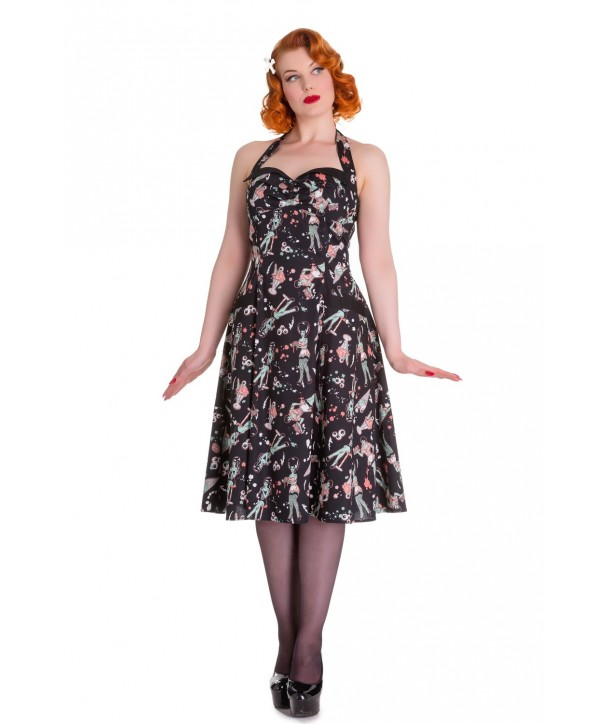 Robe Hell Bunny Zombie Diner 50s