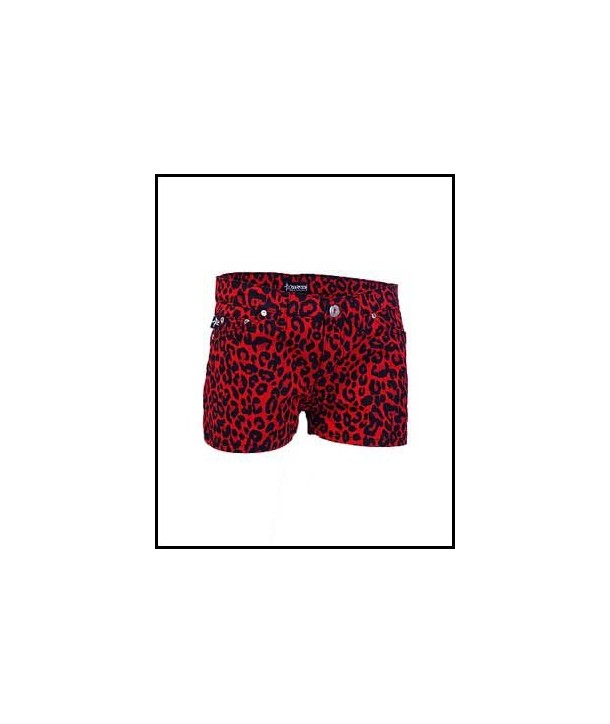 Short Darkside Clothing Red Leopard