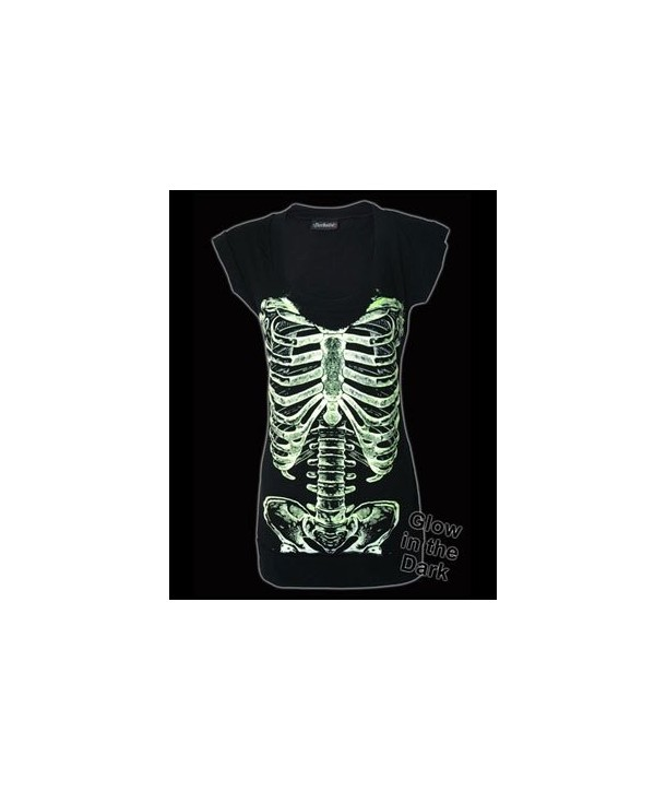 Robe Darkside Clothing Skele Ribs Fitted T