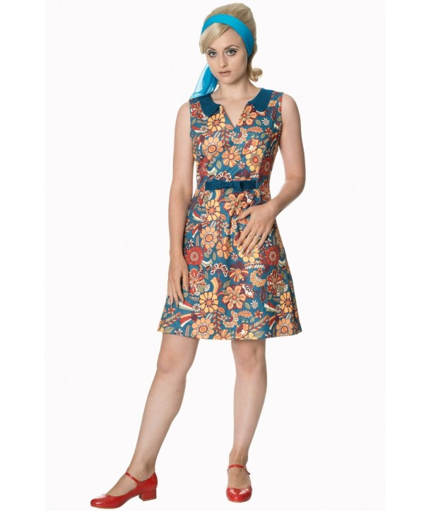 Robe Banned Clothing Floral Dream Bow Dress Multicolor