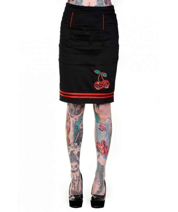Jupe Banned Clothing Cherry Skulls