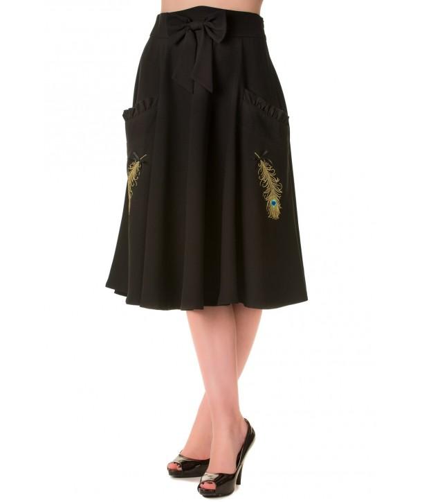 Jupe Banned Clothing Peacock Skirt Noir