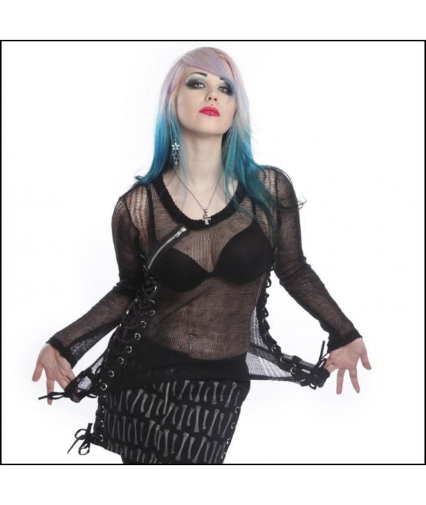Top Heartless Clothing Miss Krueger Black