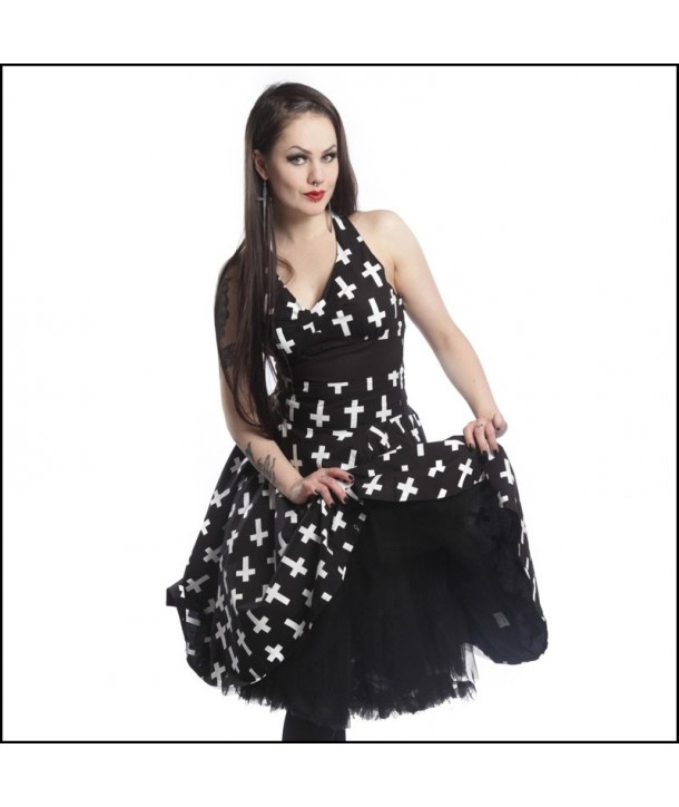 Robe Vixxsin Crusifix Dress Black