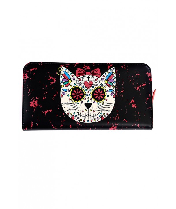 Porte Monnaie Banned Clothing Sugar Kitty Wallet Noir/Rouge