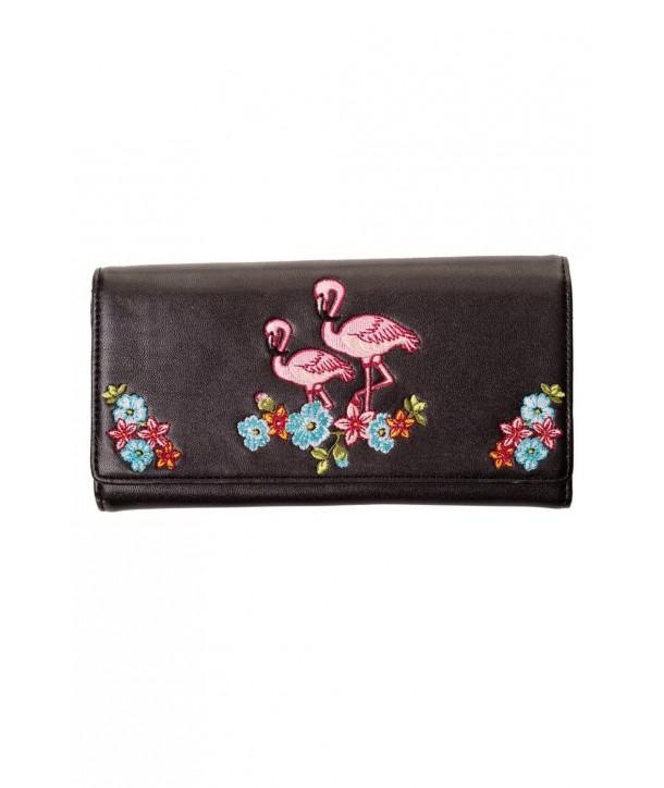 Porte Monnaie Banned Clothing Flamingo Wallet Noir