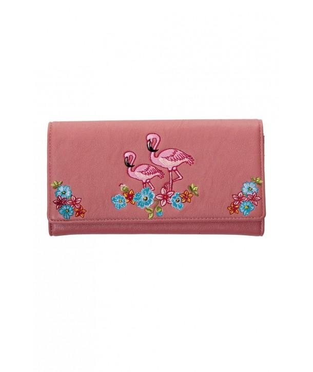 Porte Monnaie Banned Clothing Flamingo Wallet Rose