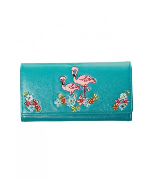 Porte Monnaie Banned Clothing Flamingo Wallet Teal Bleu