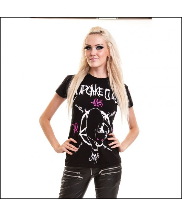 Tee Shirt Cupcake Cult Black Cat