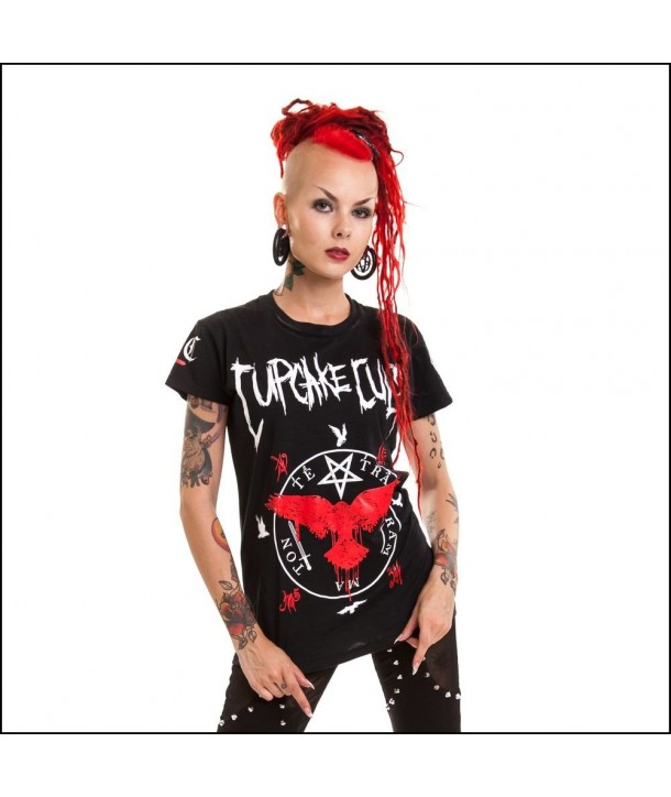 Tee Shirt Cupcake Cult Black Crow Jersey