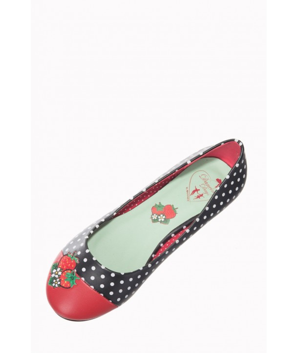 Chaussures Banned Clothing Isabella Noir/Rouge