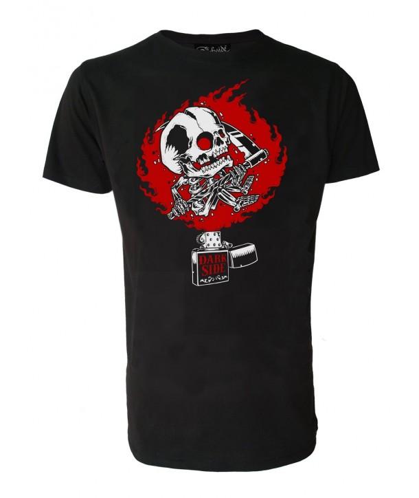 Tee Shirt Darkside Homme Zippo Skull
