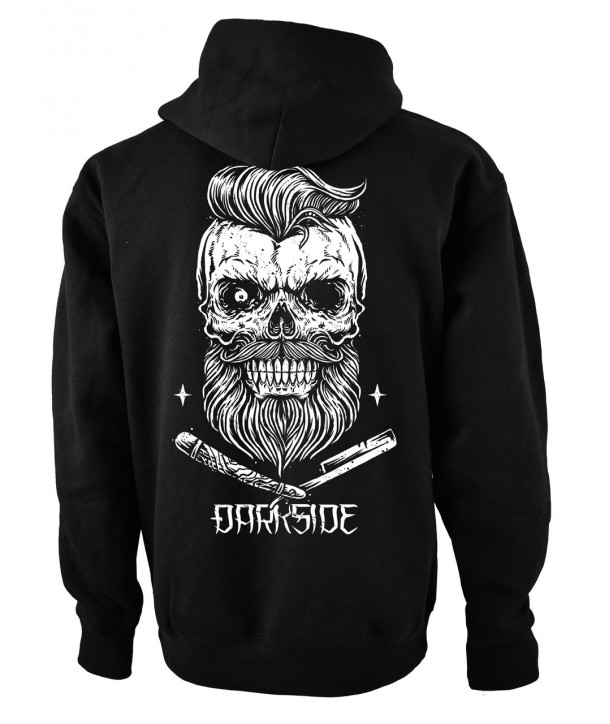 Sweat Shirt Veste Darkside Homme Bearded Skull