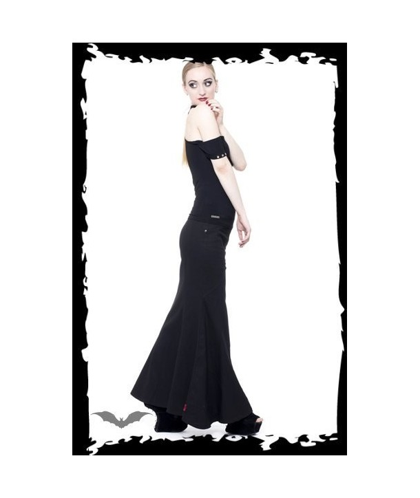 Jupe Queen Of Darkness Gothique Long And Widely Flared Skirt