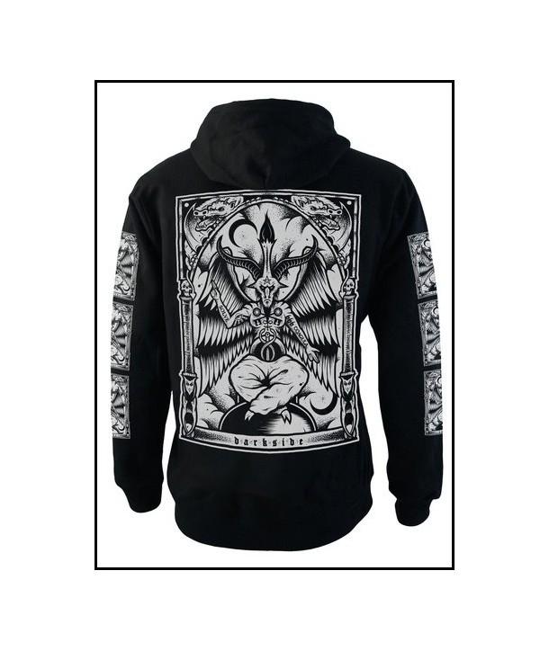 Sweat Shirt Veste Darkside Clothing Homme Baphomet