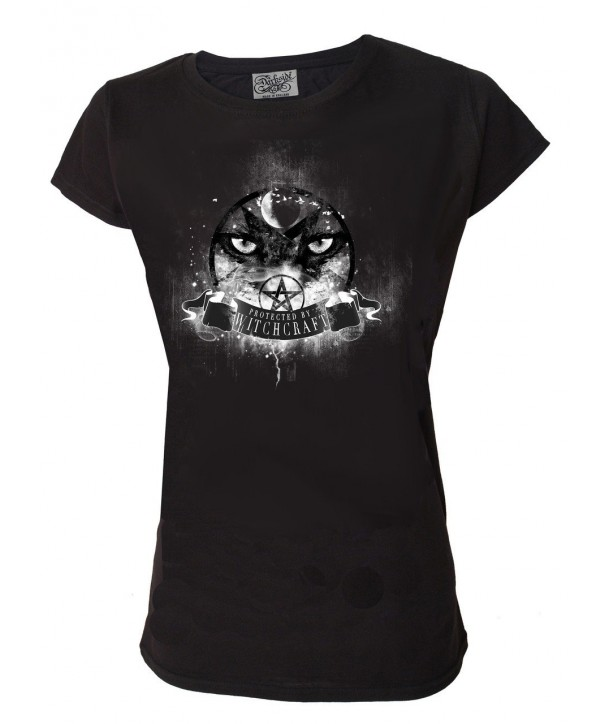 Tee Shirt Darkside Femme Protected By Witchcraft Eyes